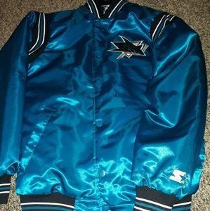 San Jose sharks starter bomber jacket